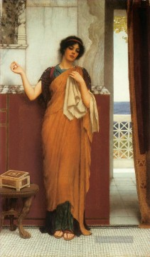 1898 Galerie - Idle Thoughts 1898 Neoclassicist Dame John William Godward